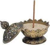 Wierookbrander Lotus bronskleurig LET OP! - 7.8x6.9x6.9 cm - L