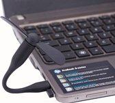 Flexibele Mini Portable USB Powered 2-Blade USB Fan (Zwart)