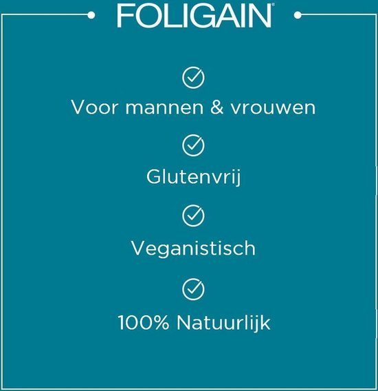 Hair vitamins Foligain Haargroei Supplement - Haar vitamine - 120 stuks