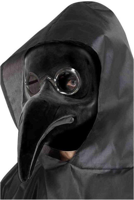 Smiffys Masker Authentic Plague Doctor Zwart