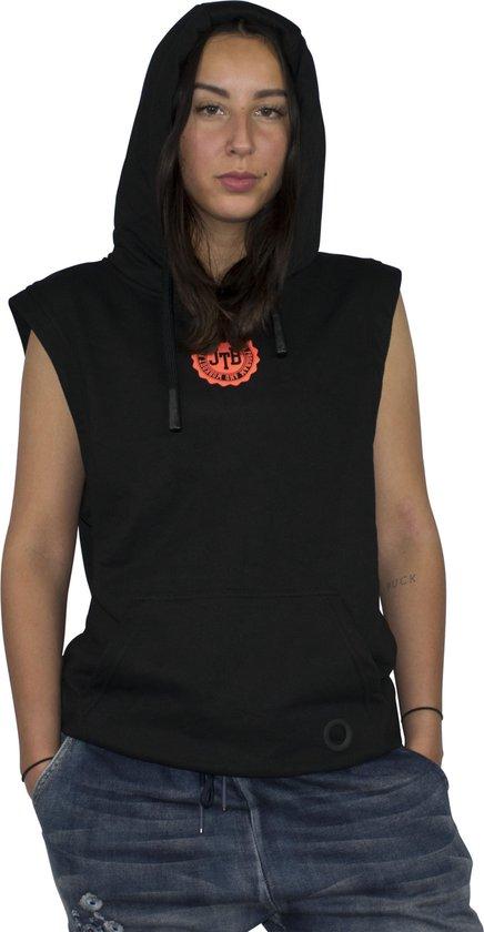 jtb-store sleeveless hoodie zwart - maat XXL