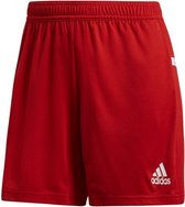 adidas T19 Knitted Short Dames - Rood - maat XS