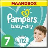 Pampers Baby-Dry Luiers - Maat 7 (+15 kg) - 112 Stuks - Maandbox