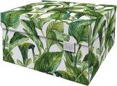Dutch Design Brand - Dutch Design Storage Box - Opberdoos - Opbergbox - Bewaardoos - Groene bladeren - Green Leaves