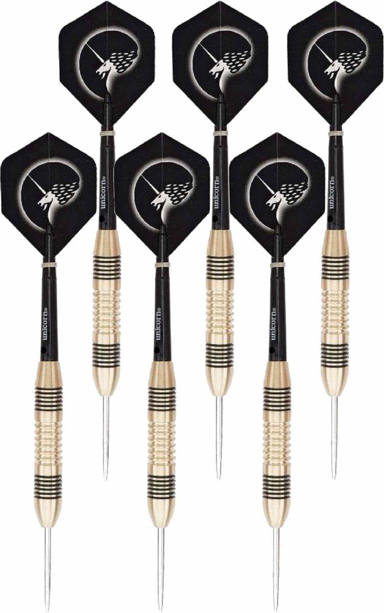 3x Set van 3 dartpijlen Core Brass 21 grams - Darten/darts sport artikelen pijltjes messing - Kinderen/volwassenen