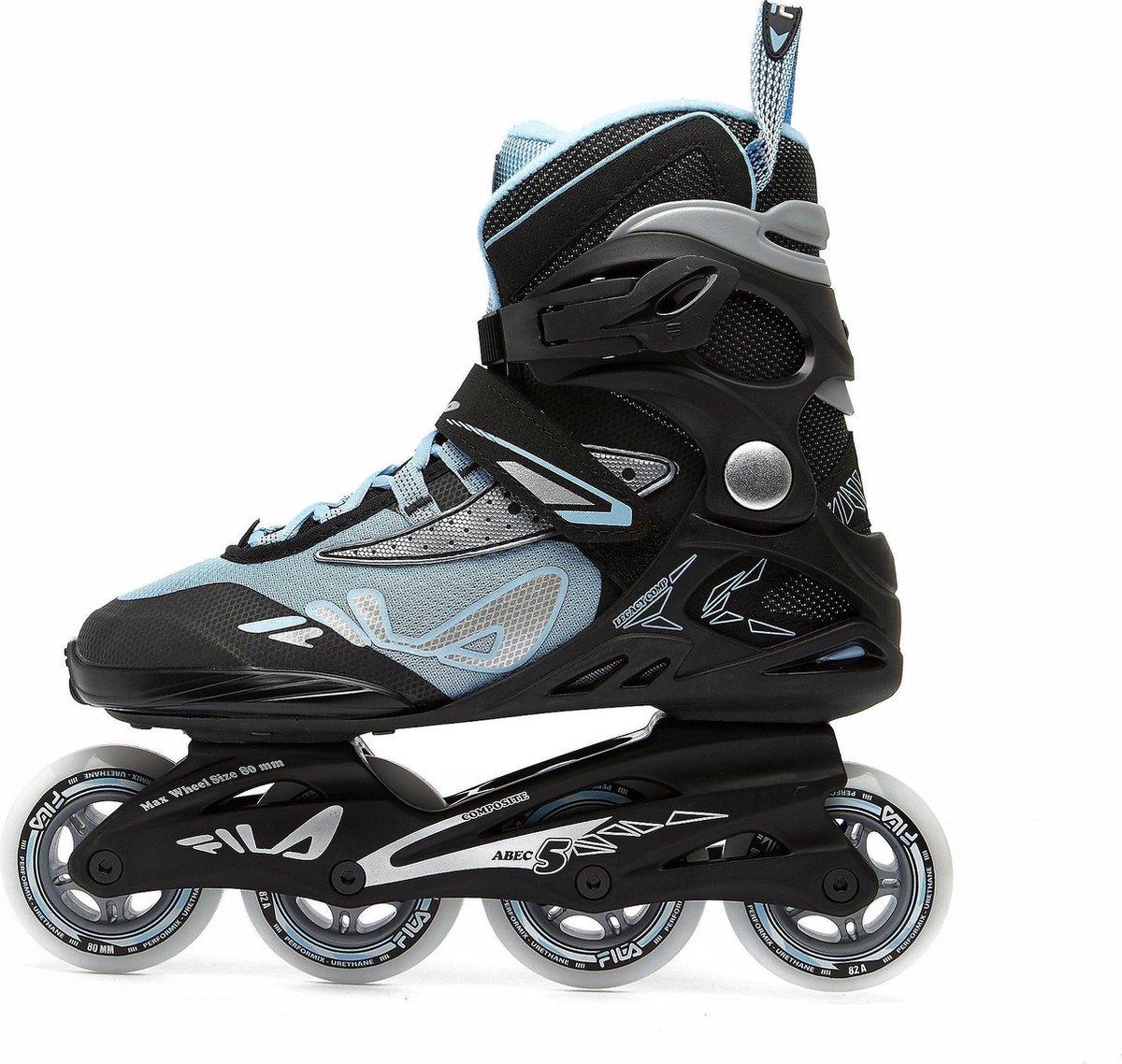 Fila Legacy Skeelers / Inline Skates - Abec 5 - Zwart / Blauw - Dames - Maat 37