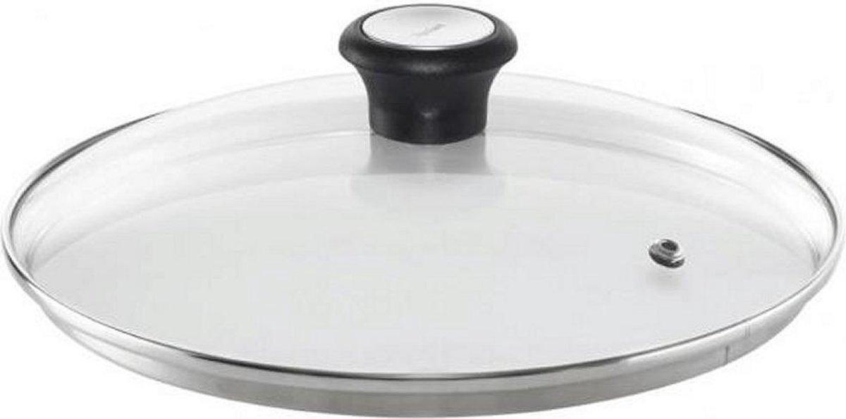 Tefal Glazen deksel met stoomgaatje -   30 cm - voor een 30 CM pan