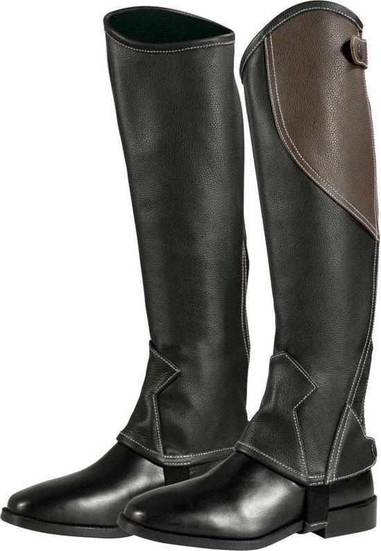 PFIFF-minichaps  tweekleurig XS Zwart-bruin