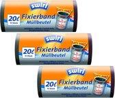 Swirl Afvalzakken Fixeerband Multipack 3 x 15 stuks
