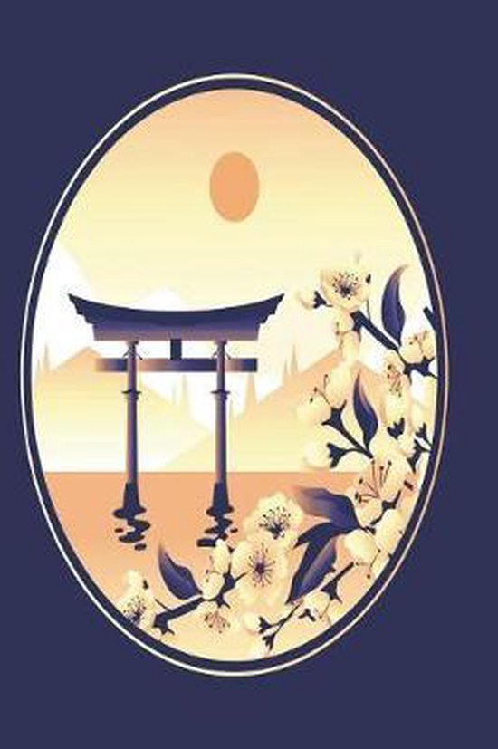 japanese shrine in blue and gold