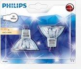 Philips Halogeen lamp MR16 GU5.3 20w 205 lumen Dimbaar 4 stuks