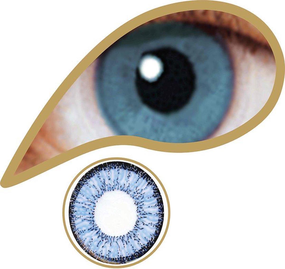MesmerEyez - Blue - Real Blue - 1 dag lens - MesmerEyez