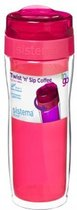 Sistema To Go Twist 'n Sip Coffee - isoleerbeker 490 ml - roze