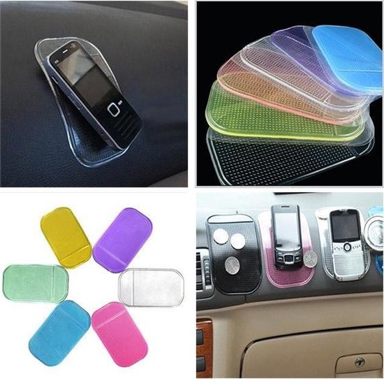 Anti slip mat voor smartphone - auto houder - Transparant - 2 STUKS