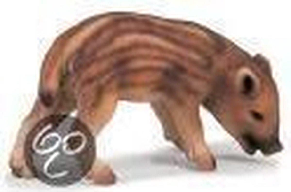 14335 Wild zwijn jong grazend