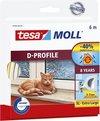 Tesa Moll tochtstrip 05393 D profiel - 9mmx6m wit