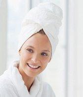 Sneldrogende Handdoek Haar Wit - Haren Drogen - Microvezel Handdoek Hoofd - Droog Haar Doek