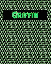 120 Page Handwriting Practice Book with Green Alien Cover Griffin