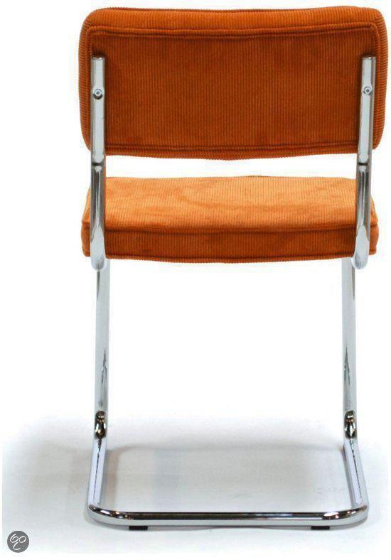 Canvas Studios Brovst rib eetkamerstoel oranje