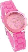 Geneva - Kinder horloge - Siliconen - Roze - Ø 32 mm