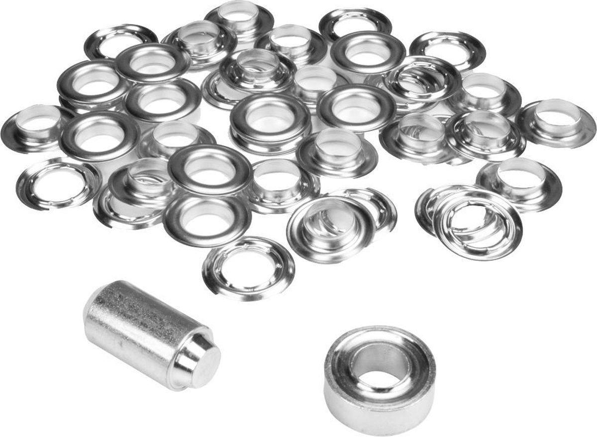 ESVO   16 mm zeilringen - 25 ringen - messing vernikkeld - 1 stempel