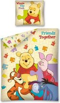 Kinderdekbedovertrek Winnie the Pooh Puzzel