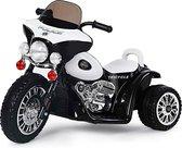 Politiemotor 6V zwart, kinder motor, kids motor