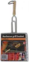 Barbecuerooster met handvat - 400x20x200mm - rechthoek - ijzer