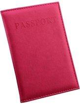 (Donker) Roze Paspoort Protector - Beschermhoes - Paspoorthouder - Cover - Mapje