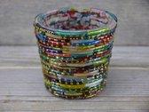 SENSE Theelichten Houder- Waxinelicht Houder- Sfeerlicht Houder- Tealight Holder- Multi kleur- Nostalgische kleuren