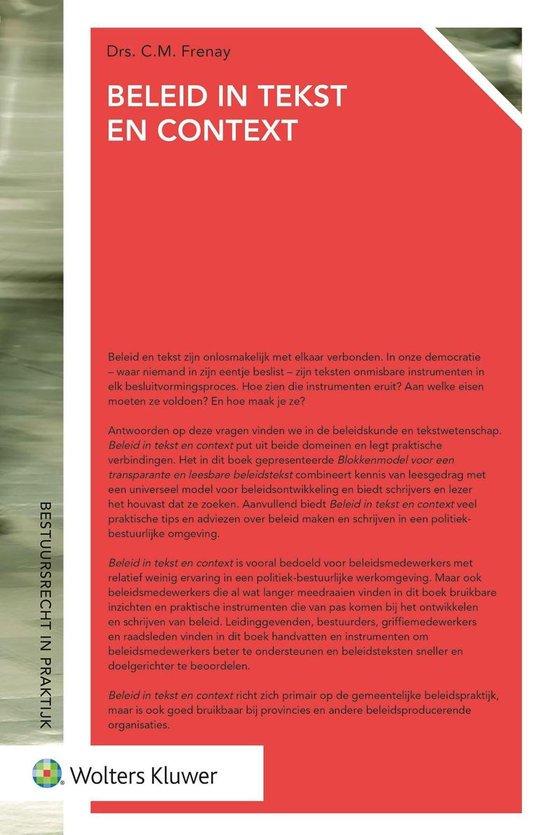 Bestuursrecht in praktijk - Beleid in tekst en context - C.M. Frenay |