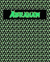 120 Page Handwriting Practice Book with Green Alien Cover Abraham