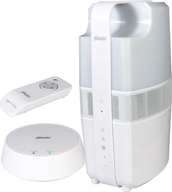 Alecto DSS-40 - Draadloze Buitenspeaker met sfeerverlichting, Wit
