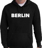 Berlin wereldstad Berlijn  hoodie zwart heren - zwarte Berlin sweater/trui met capuchon M