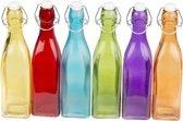 Gekleurde decoratie fles 27 cm  rood