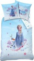 Disney Frozen 2 Destiny Dekbedovertrek - Eenpersoons - 140 x 200 cm - Blauw