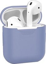 Siliconen Bescherm Hoesje Case Cover voor Apple AirPods 1 Hoes Lila