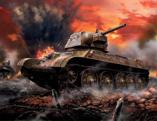 Zvezda - Soviet Medium Tank T-34-76 Mod.1942 (Zve6159)