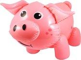 Boerderij thema opblaasbare varken roze 55 cm - Varken/big dieren feest decoratie/versiering