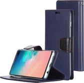 Let op type!! KWIK GOOSPERY SONATA DIARY horizontaal Flip lederen case voor Galaxy S10 +  met houder & kaartsleuven & portemonnee (blauw)