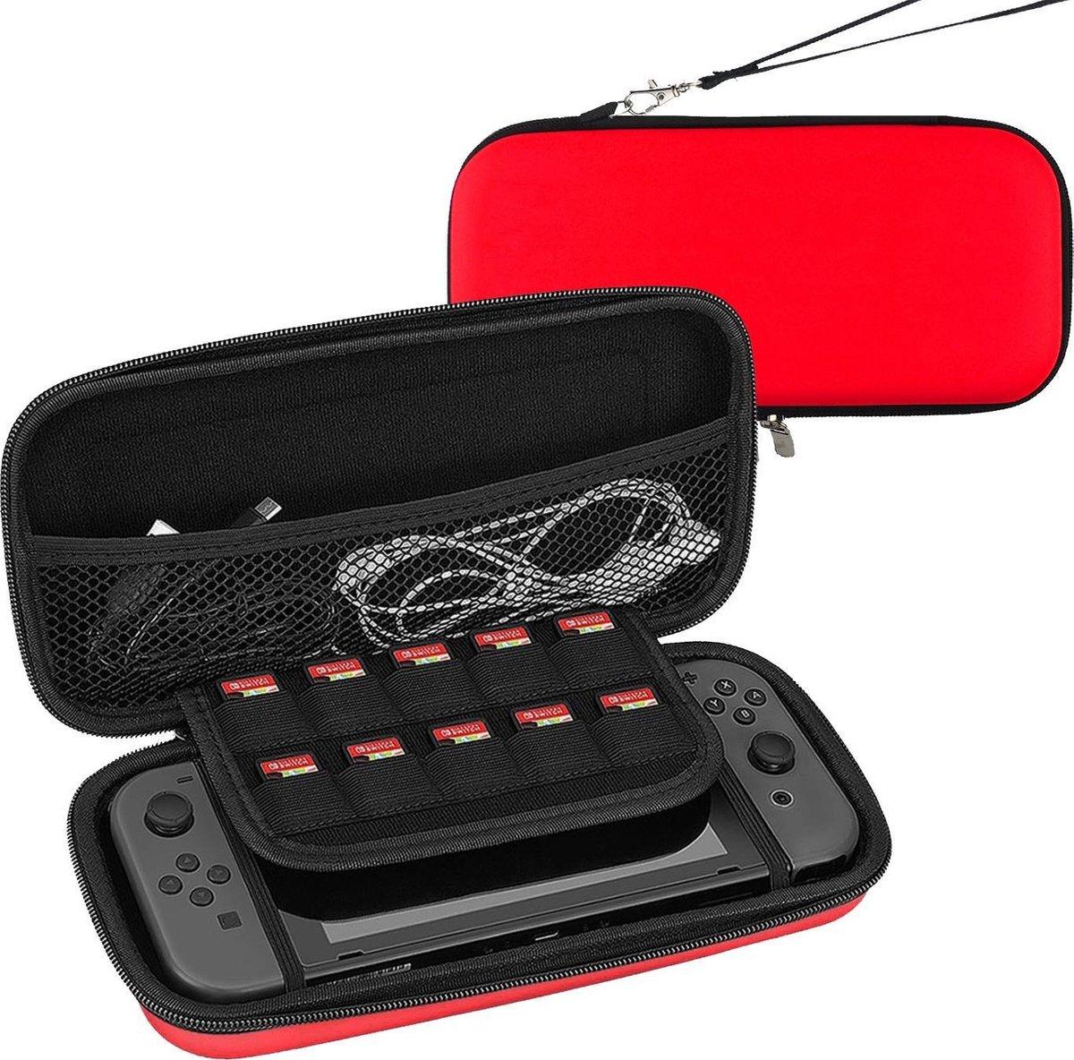 Hoesje Geschikt voor Nintendo Switch Lite Case Hoes Hard Cover   Rood