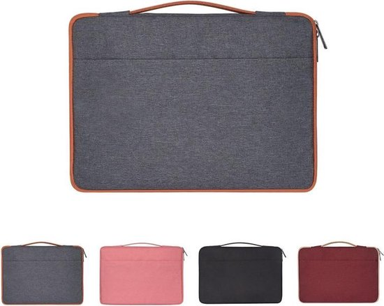 Let op type!! 13 3 inch Fashion casual polyester + nylon laptop handtas aktetas Notebook Cover Case  voor MacBook  Samsung  Lenovo  Xiaomi  Sony  DELL  CHUWI  ASUS  HP (grijs)