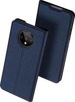DUX DUCIS TPU Wallet hoesje voor OnePlus 7T hoesje - blauw