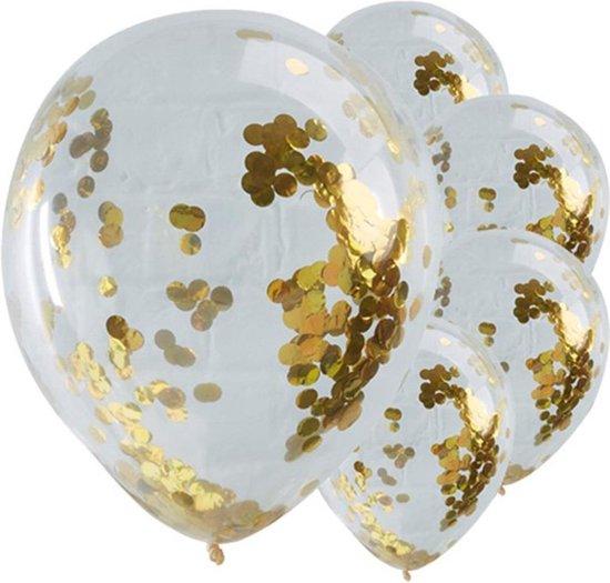 Ballonnen Confetti Goud - 5 stuks