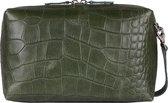 MYOMY My Boxy Bag Handtas - croco vetiver green