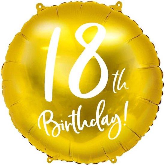 Folie ballon 18th Birthday - 45 centimeter