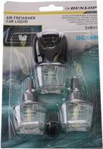 """Dunlop Luchtverfrisser """"oceaan"""" 3 X 8 Ml Zwart/transparant"""