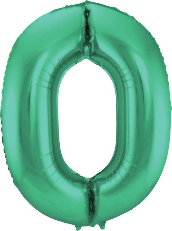 FOLAT BV - Metallic groene aluminium cijfer ballon - Decoratie > Ballonnen