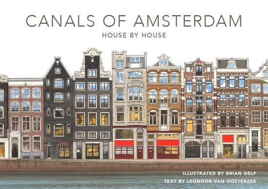 Boek cover The canals of Amsterdam - House by house van Brian Delf (Hardcover)