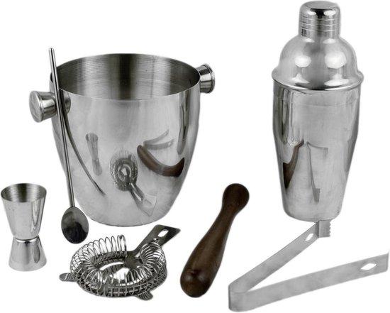 BARcrafts cocktailshaker set - cocktail set - 7-delig - Roestvrij staal